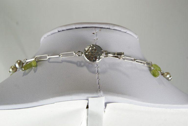 Collar Amatista-Olivino-Perlas