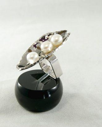 Anillo perlas