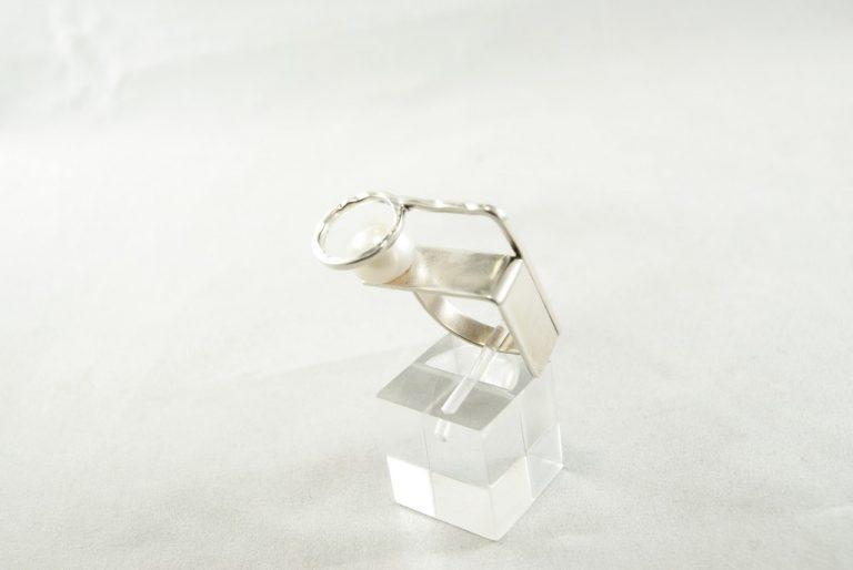 Anillo Plata-Perla