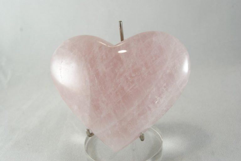 Corazón Cuarzo Rosa