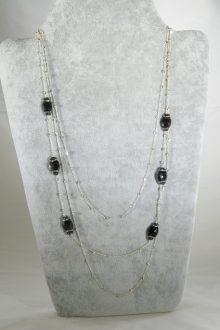 Collar Espinelas y Cuarzo Rutilado