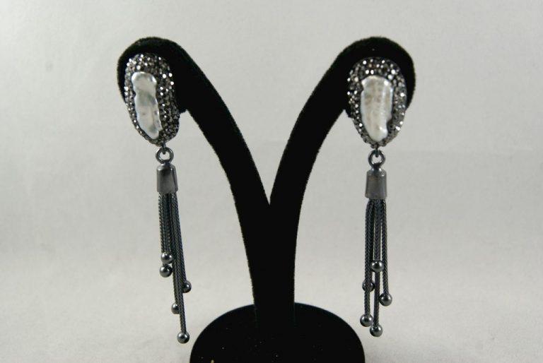Pendientes Perlas con Marcasitas