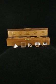 Sólidos Plátónicos de Cuarzo Cristal de Roca
