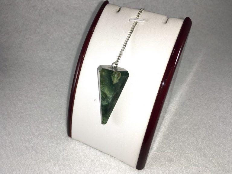 Péndulo Mineral Cuarzo Verde